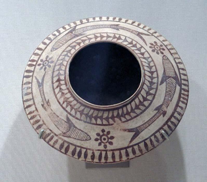 Mehrgarh pintó cerámica. 3000-2500 a. C. (CC0)
