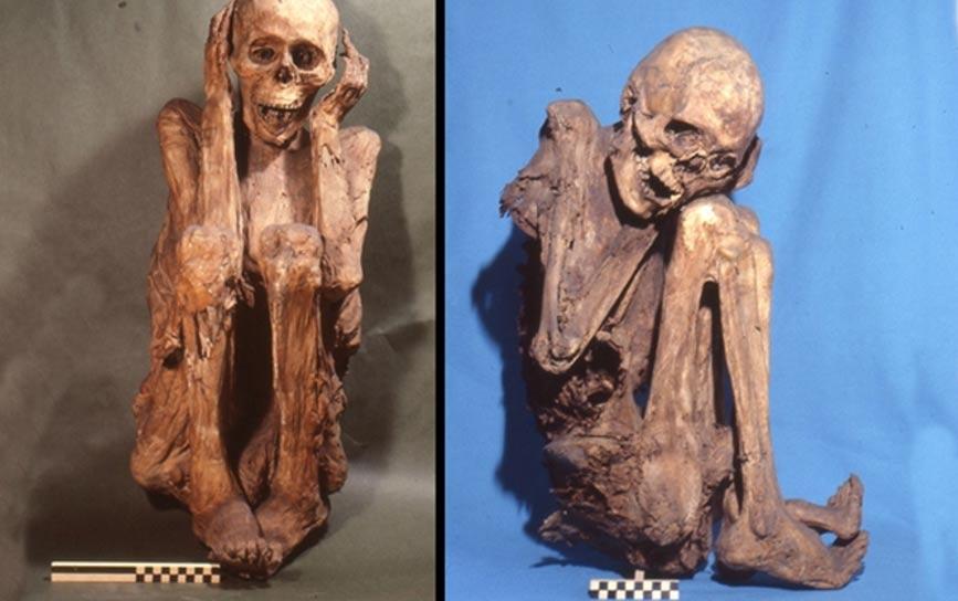 Colección de momias conservadas de forma natural y originarias de la antigua capital inca de Cuzco (Perú). Fotografía: Gino Fornaciari. Cortesía de Maria Gloria Roselli/Museo de Antropología y Etnología de la Universidad de Florencia