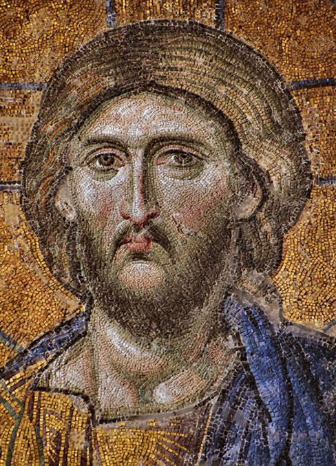 Azulejos de mosaico fueron descubiertos en la iglesia bizantina desenterrada. Se muestra un mosaico de Cristo de la iglesia de Santa Sofía en Estambul. (Dianelos / CC BY-SA 3.0)