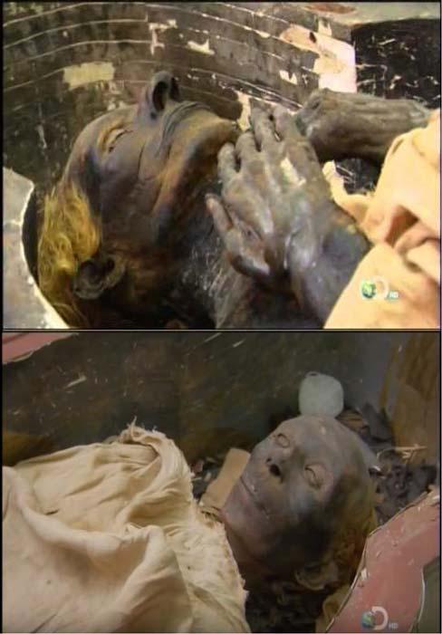 Las momias de Yuya y Tuya. (Captura de pantalla de Youtube)