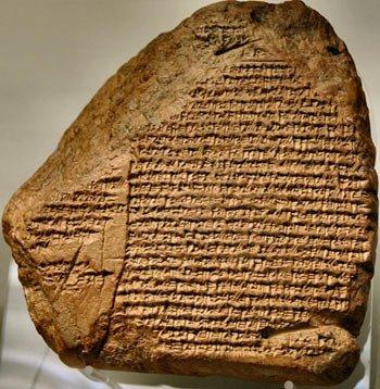 La Crónica de Nabonido (c siglo IV - I a.C.) cuenta la historia del estado de Nabonido. Crédito: Museo Británico