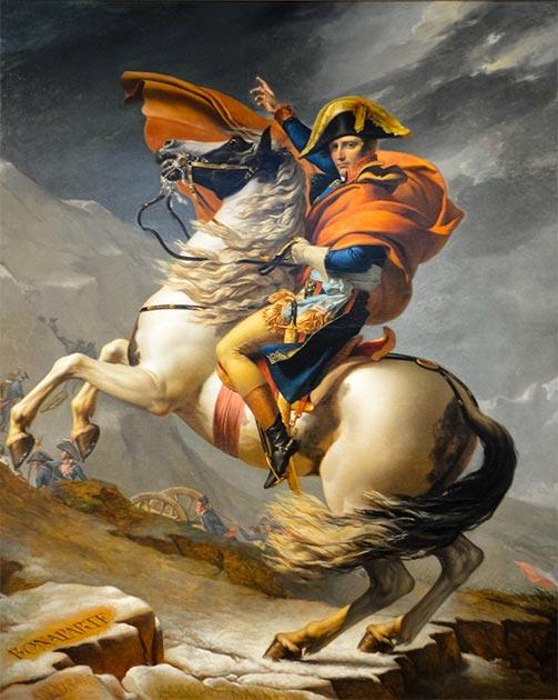 Napoleón a caballo (que podría ser de la raza veneciana). (CC BY 2.0)