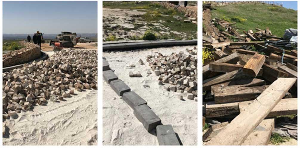Las obras de construcción que se están llevando a cabo actualmente en Göbekli Tepe. Crédito: Çiğdem Köksal Schmidt