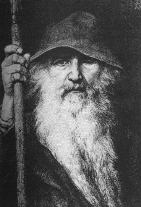 Odin, el vagabundo (1886) de Georg von Rosen (1843-1923). (Dominio público)