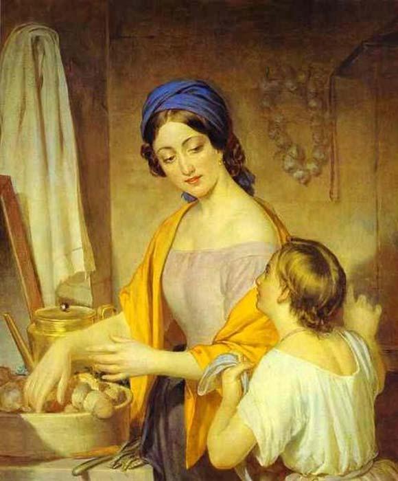 Pintura de una joven ama de casa de Alexey Tyranov. (Dominio público)