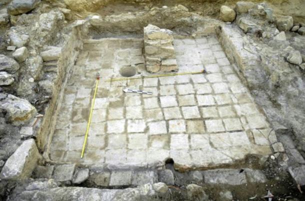 Foto realizada el 25 de agosto y hecha pública por el Ministerio de Cultura griego. Muestra las ruinas del palacio Micénico halladas en las excavaciones que se están llevando a cabo cerca de la antigua Esparta, en la región del Peloponeso.