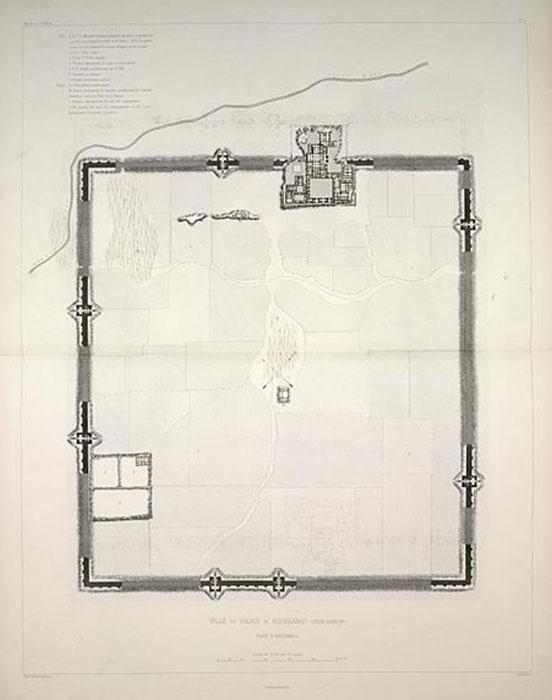 Plan de Dur-Sharrukin, por el excavador francés Victor Place. (Annielogue / Public Domain)