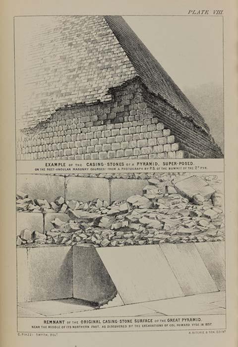 Placa que muestra algunas de las piedras de la cubierta aún in situ en la base. (Museos Nacionales de Escocia)