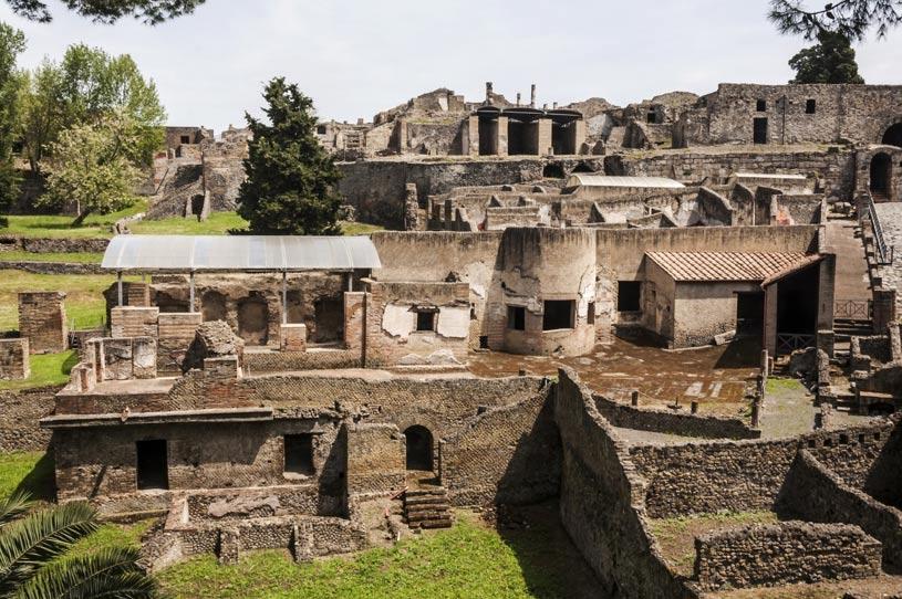 La bien conservada ciudad de Pompeya en la actualidad. (BigStockPhotos)