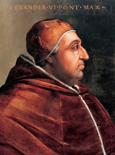 Retrato del Papa Alejandro VI de Cristofano dell'Altissimo. (Dominio público)