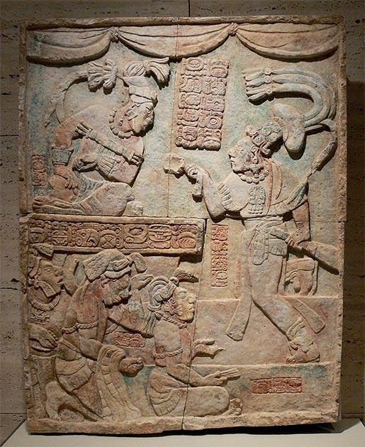 Presentación de cautivos a un gobernante maya. (FA2010 / Dominio público)