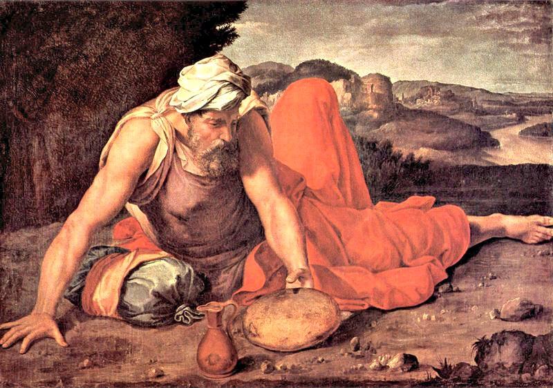 Elías, óleo de Daniele da Volterra, (c. 1550). Colección Pannocchieschi. (Public Domain)