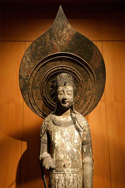 Réplica de la estatua de Kudara Kannon en el Museo Británico. (CC BY 2.0)