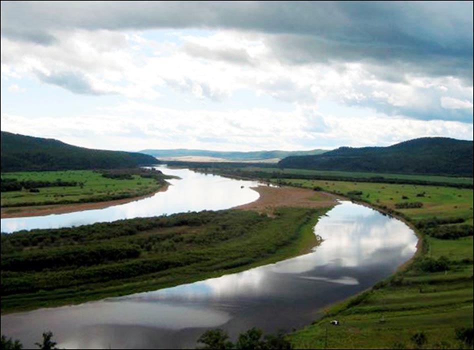 Panorámica del río Shilka, cercano al estuario del río Largi. Fotografía: Sergei Alkin