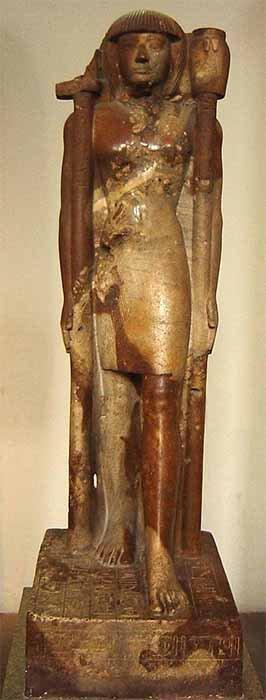 Estatua de arenisca de Khaemweset, hijo de Ramsés II y sumo sacerdote del templo de Ptah en Memphis, del siglo XIII a.C. (Museo Británico / Dominio público)
