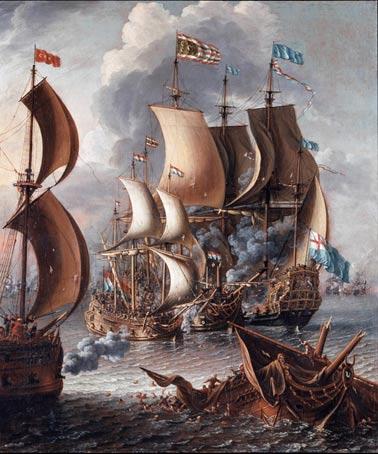 Una pelea en el mar con los corsarios de Berbería, 1681. Fuente de la imagen