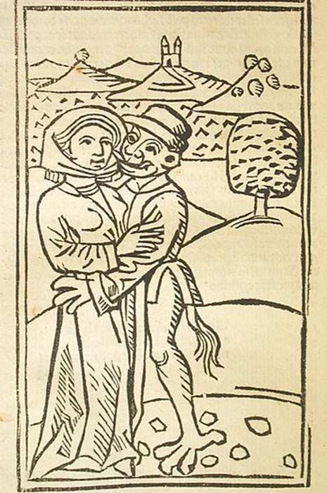 """""""Teufelsbuhlschaft"""" (Sexo con el Diablo) (c. 1489) ilustración de J. Otmar. (Public Domain)"""