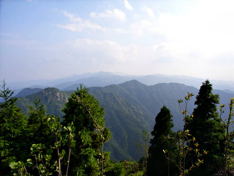 Vista de la sierra del monte Heng o Nan Yue. (Public Domain)