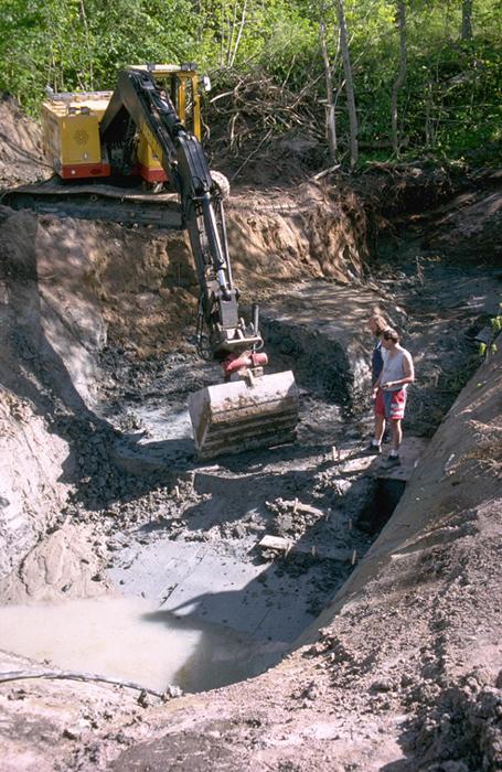 Esta es una excavación del sitio de Huseby-Klev en la década de 1990. (Per Persson / Universidad de Estocolmo)