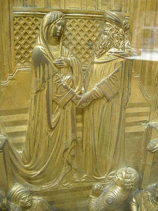 Salomón y la Reina de Saba (Puertas del Paraíso). (Sailko / CC BY 2.5)