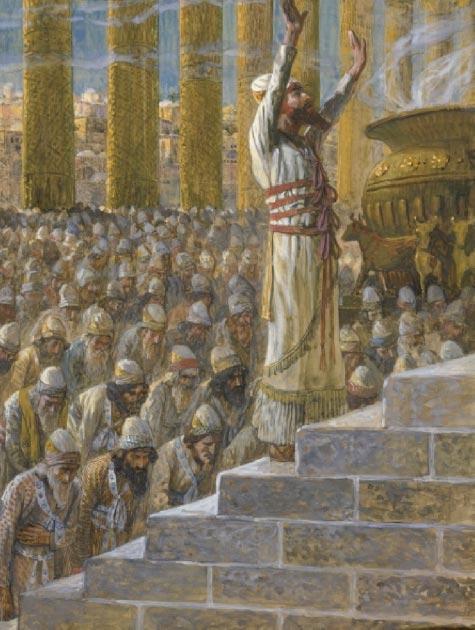 Salomón reza en el templo de Jerusalén. (James Tissot / Dominio público)