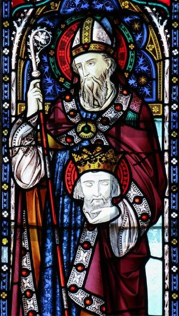 Vidrieras que representan a San Cuthbert de Lindisfarne. (Lawrence OP / CC BY-NC-ND 2.0)