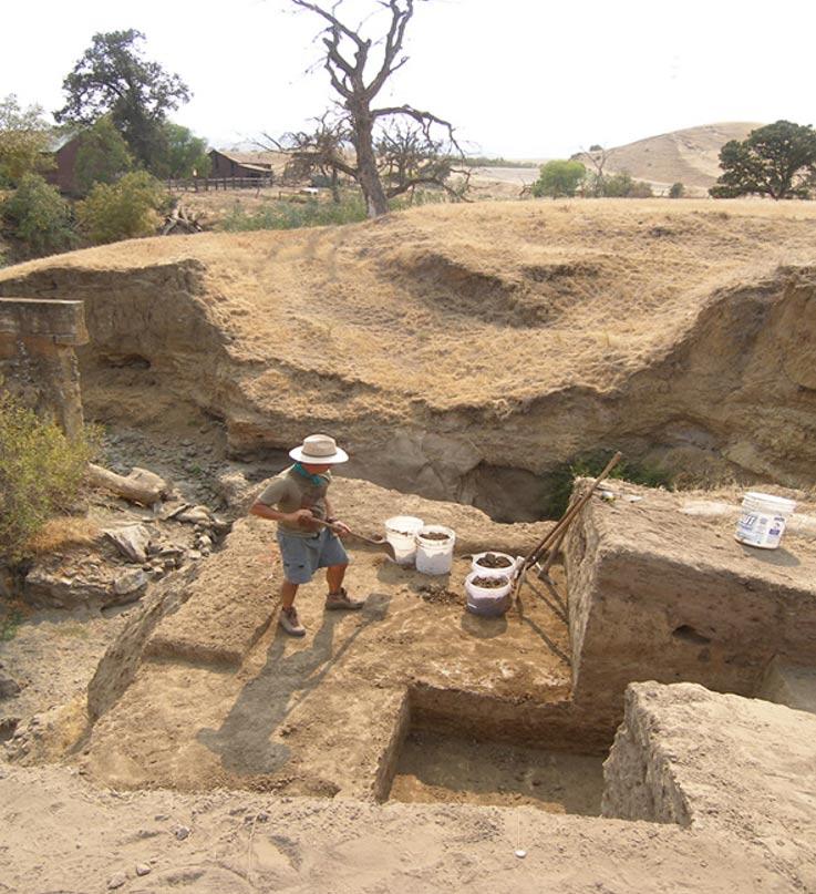 Entre los hallazgos realizados en Marsh Creek se encuentra esta casa de piedra de hace 7.000 años. (Foto: John Marsh Historic Trust/Wikimedia Commons)