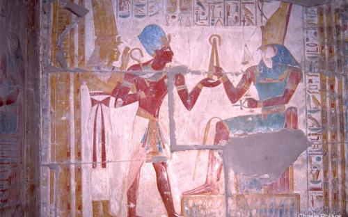 Seti, Isis y Horus - Abydos (por Charlie Phillips)
