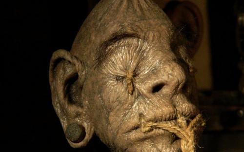 Cabeza encogida (Imagen: Arte deviano de The-Krypt-Creature)