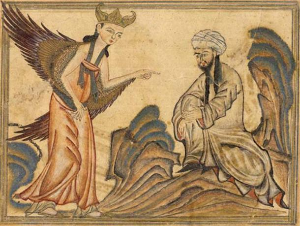 1307 representación de Mahoma recibiendo su primera revelación del ángel Gabriel. ( Dominio publico )