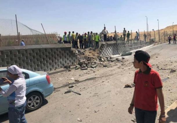 16 turistas han resultado heridos en el ataqueEl dispositivo de carretera explotó cerca del nuevo Gran Museo Egipcio. (Image: Twitter)