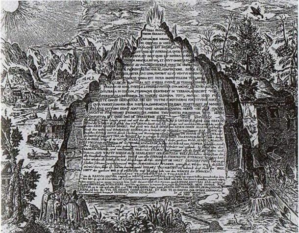 Una representación imaginativa del siglo XVII de la Tabla de Esmeralda de la obra de Heinrich Khunrath, 1606. (Dominio público)