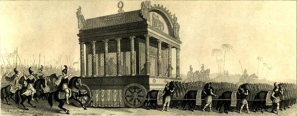 Representación del siglo XIX de la procesión fúnebre de Alejandro basada en la descripción de Diodoro. (Tarawneh / Dominio público)