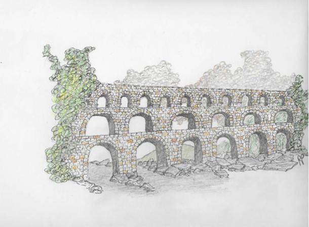 Acueducto romano de Robbie Peterson (proporcionado por el autor)