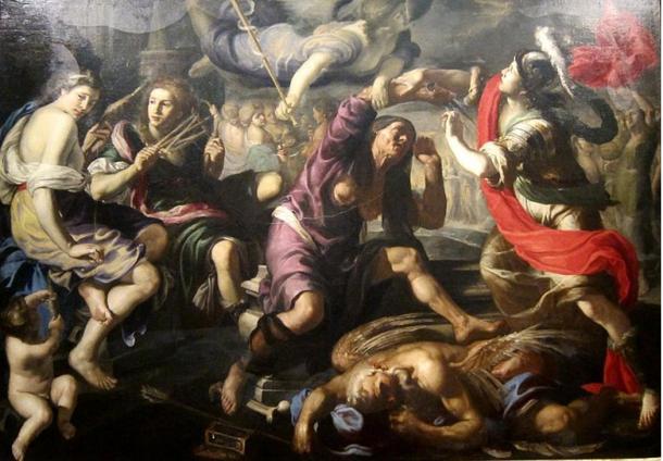 'Alejandro Magno y los Destinos' por Bernardino Mei