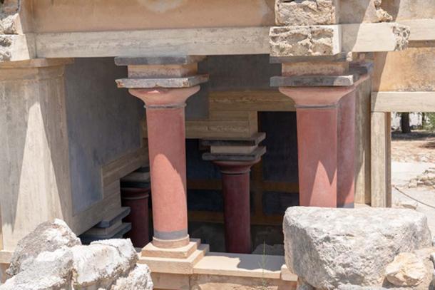Área restaurada del palacio de Knossos. Crédito: Ioannis Syrigos