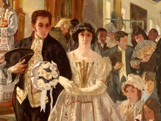 Bolívar se casa con María Teresa Rodríguez del Toro en 1802. (Santy cardenas / CC BY-4.0)