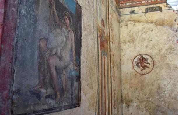 Esta Pintura de Leda y el Cisne persuadió a los expertos a concentrarse en la villa. (Pompeii- Parco Archeologico)