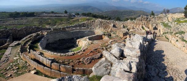 Tumba Círculo A en Micenas, Grecia