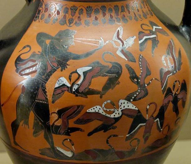 Heracles matando a las aves de Stymphalian con su honda. (Jastrow / Dominio Público)