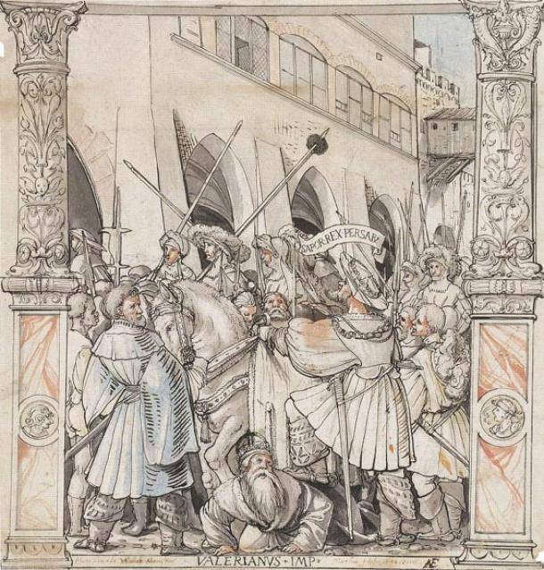 La humillación del emperador Valeriano por Shapur, Rey de Persia, por Hans Holbein