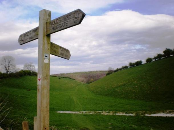 Intersección de los Wolds de Yorkshire con Chalkland Way.
