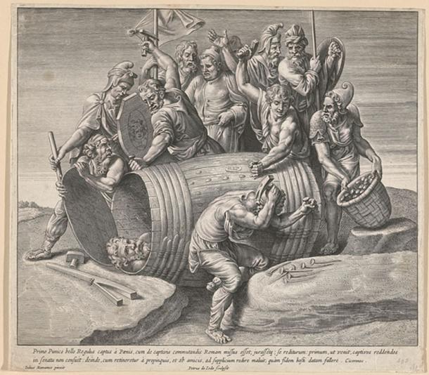 La muerte de Marco Atilio Regulus, que muestra que los cartagineses lo clavaron en una bañera. (Rijksmuseum / Dominio Público)