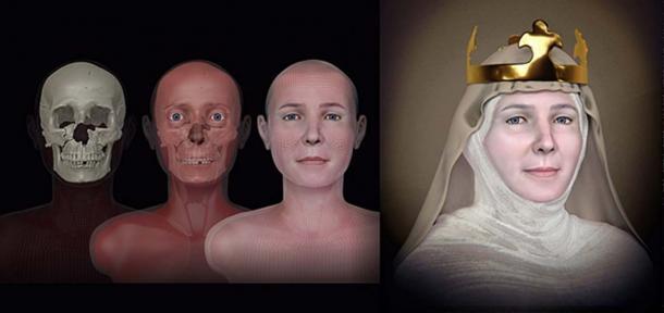 La reconstrucción facial de la reina Judith de Turingia: un proyecto organizado por el arqueólogo Jiri Sindelar. Fuente: Cicero Moraes / CC BY-SA 4.0.