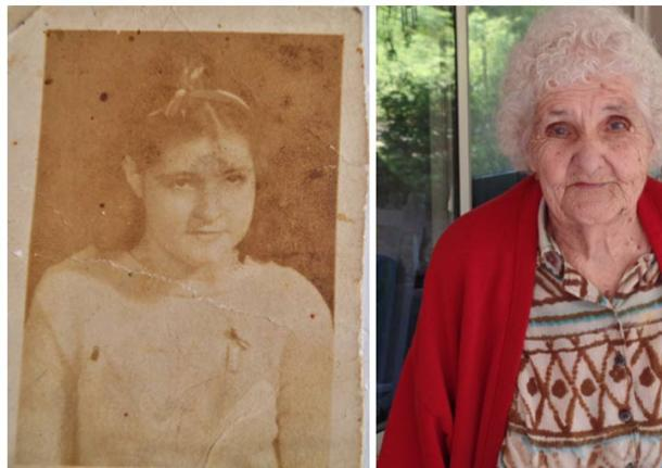 Izquierda: Louise Maddox 1939. Derecha: Louise Maddox 2015. Imagen cedida por: Indigenous Peoples Research Foundation.