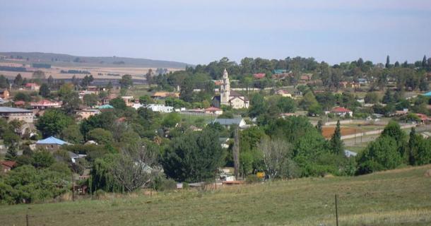 Vista del pueblo de Machadodorp, Provincia de Mpumalanga
