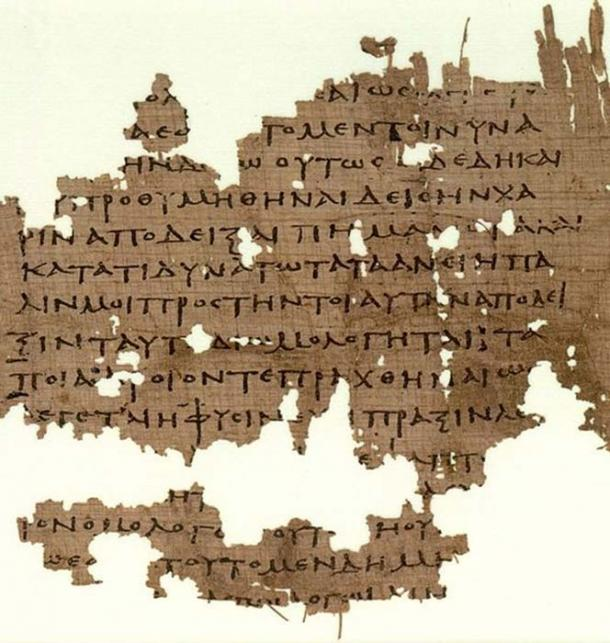 Manuscrito que contiene fragmentos de la República de Platón. (Bender235 / Dominio Público)