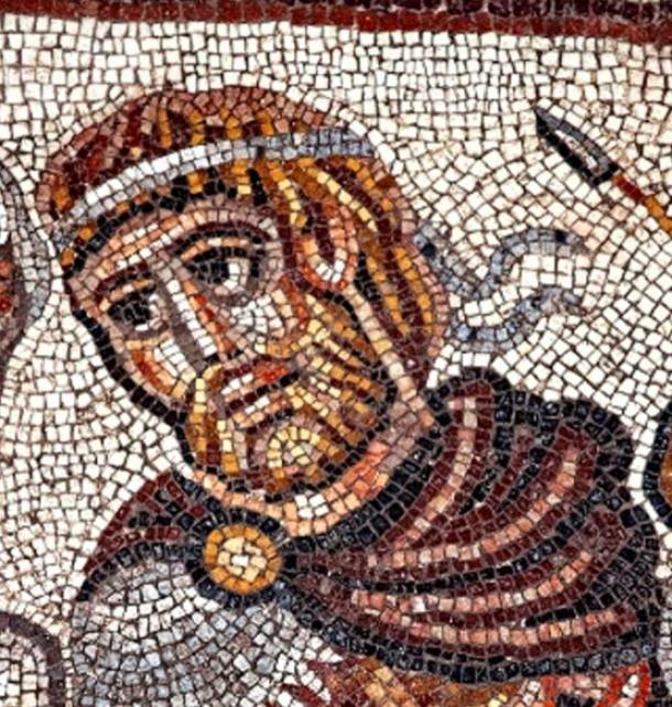 Mosaico de Alejandro Magno, Huqoq, región de Galilea, Israel