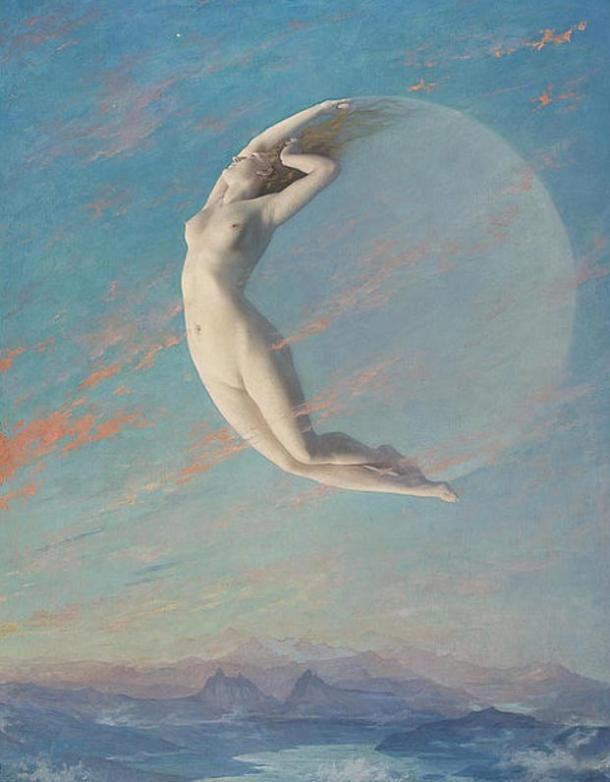 Una vez diosa de la luna y noche, Selena.