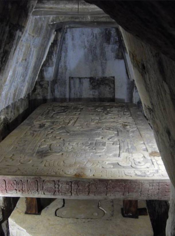 Recámara del sarcófago de Pakal
